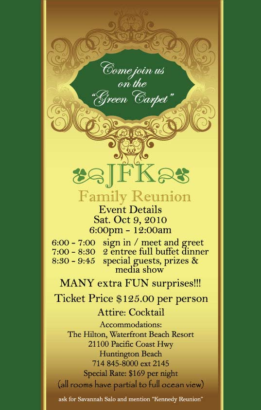 Reunion Invitation  Jfk High School Th Family Reunion